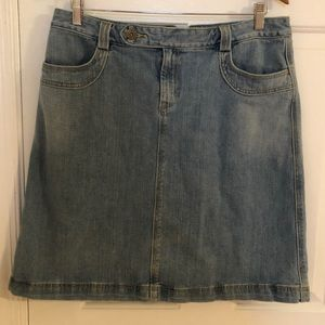 GAP Blue Denim Skirt Size 12